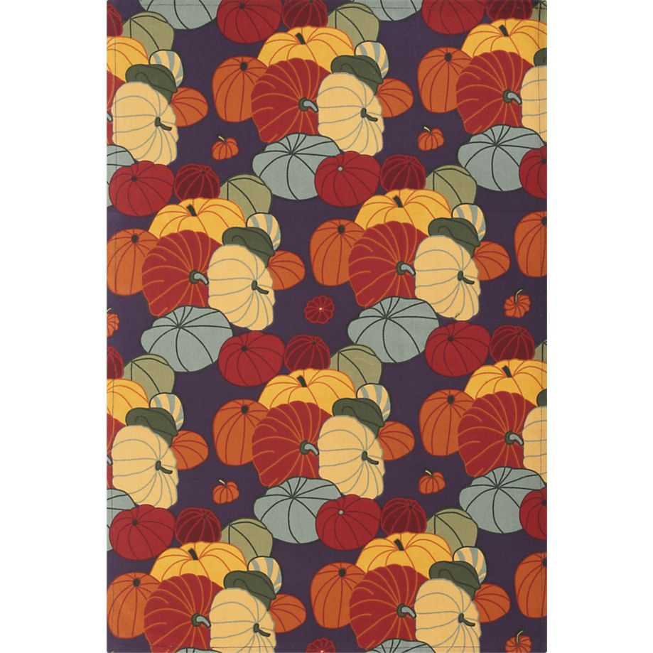 Autumn Squash Dishtowel for Crate & Barrel
