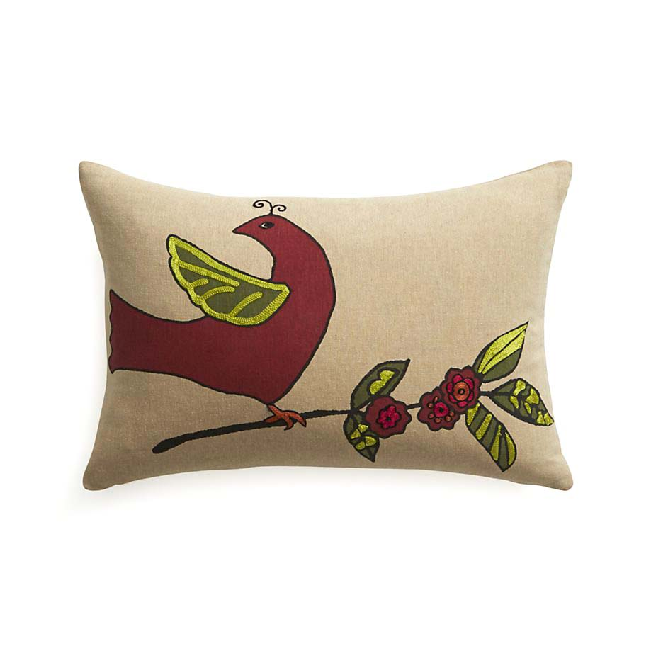 Partridge 18x12 Pillow for Crate & Barrel