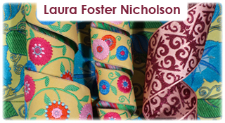 Suzani Flower and Arabesque ribbons for Renaissance Ribbons
