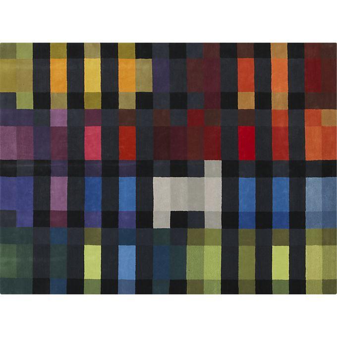 Zak wool rug, designed for Crate & Barrel