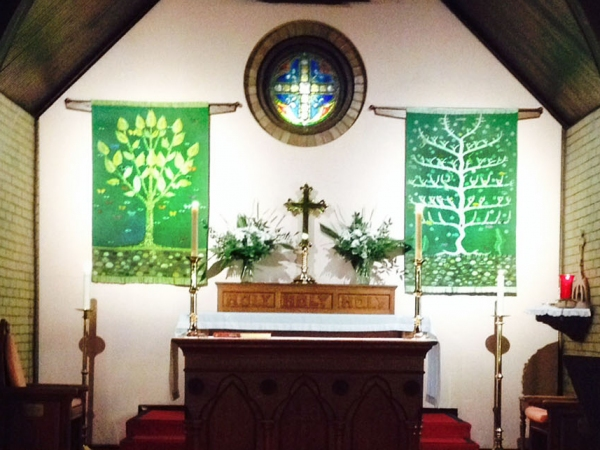 Trees of Life and Revelation, 2014.  St Stephens Episcopal Church, New Harmony IN