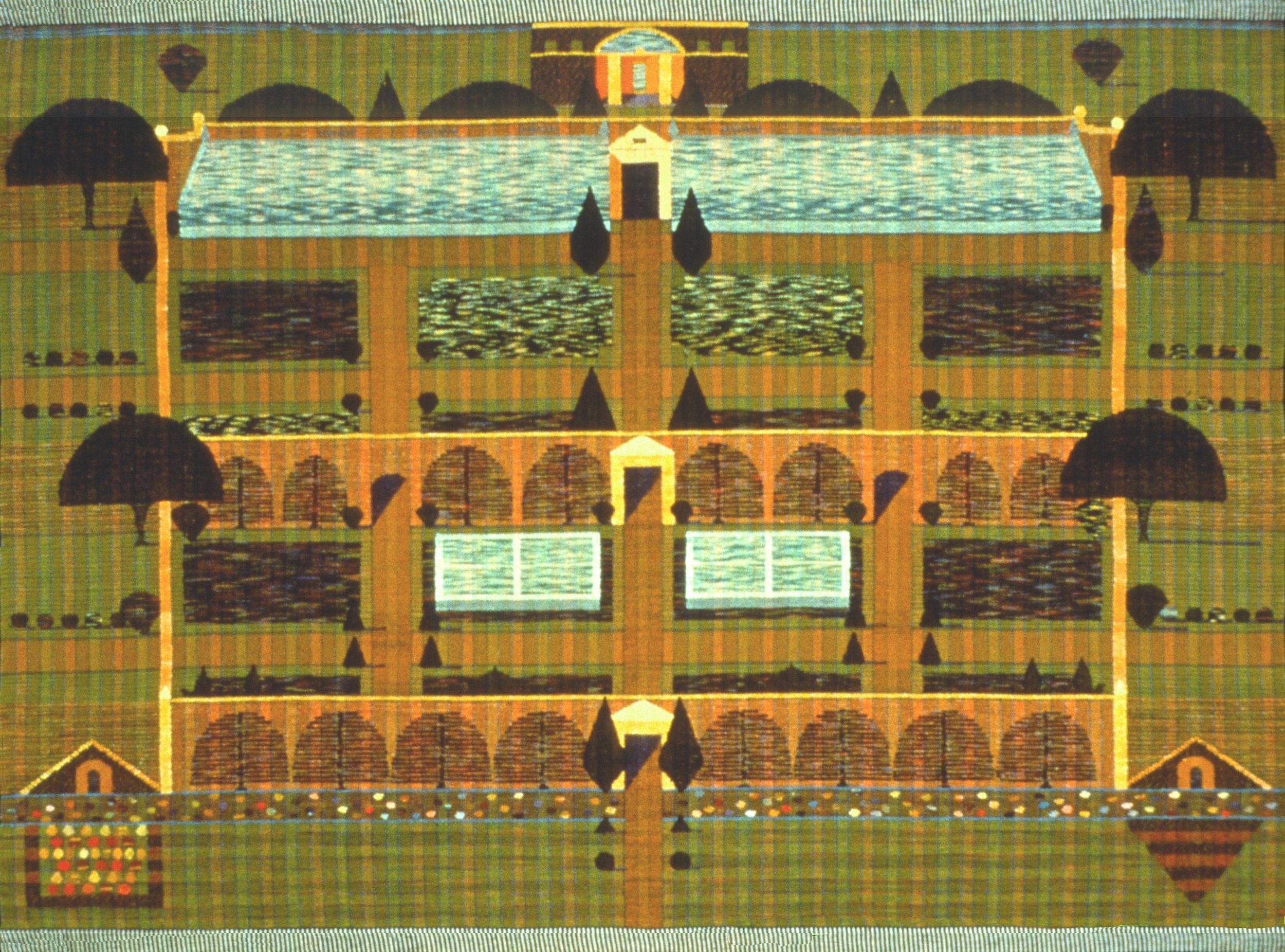 English walled garden 1989