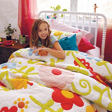 How does Your Garden Grow Kid's quilt for Land of Nod