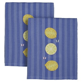 Lemon Embroidered Dishtowel for Crate & Barrel
