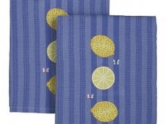 Lemon Embroidered Dishtowel for Crate & Barrel