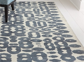 Orlo Blue Rug for Crate & Barrel