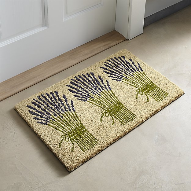 Lavender Bunch Doormat for Crate & Barrel