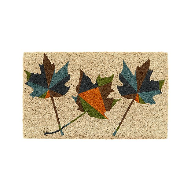 Maple Leaf Doormat for Crate & Barrel