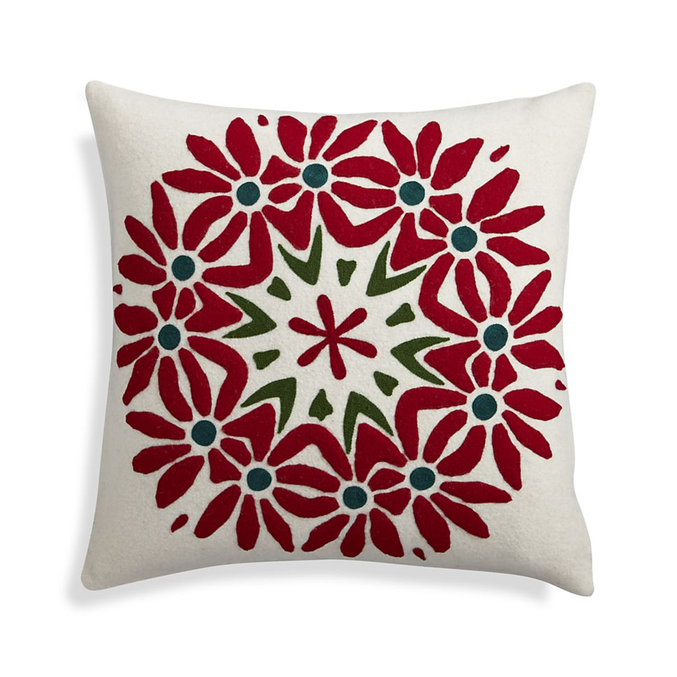 Poinsettia Pillow for Crate & Barrel