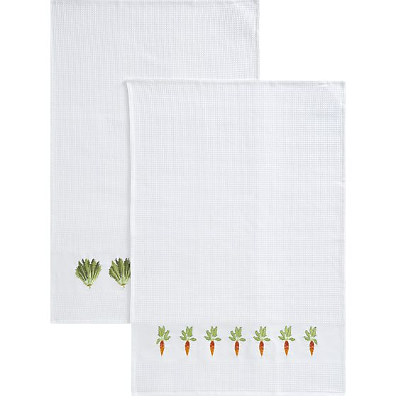 Vegetable patch Dishtowels for Crate & Barrel