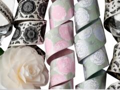 Satin florals for Renaissance Ribbons