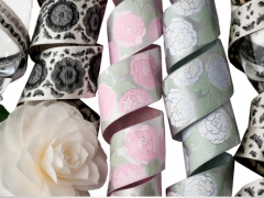 Satin florals for Renaissance Ribbons