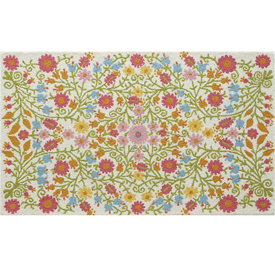 Better Floors and Gardens Rug, cream, designed for Land of Nod
